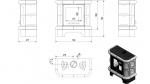 KRATKI kachlová krbová kamna WK 440/Kafel/K krémově lesklá + DOPRAVA ZDARMA