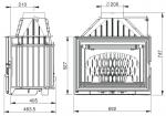 UNIFLAM 700 LUX ECO S KLAPKOU + přívod extern. vzduchu