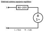 Regulátor otáček krbového ventilátoru RO-200