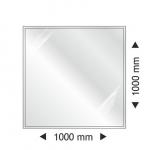 Sklo pod kamna - čtverec 1000x1000x6 nebo 8 mm