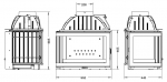 UNIFLAM 700 PLUS ECO s klapkou levé prosklení