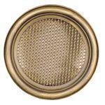 Krbová mřížka kulatá 160mm zlatá patina